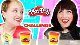 Twin Sister Makeovers with Play Doh a Mommy vs. Mean Mommy Challenge