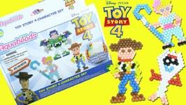 Aqua Beads Deluxe Studio Opening  Disney Toy Story 4 Forky, Bopeep, Sheriff Tutorial