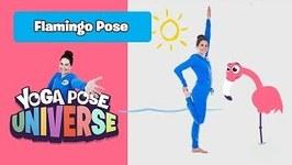 Flamingo Pose - Yoga Pose Universe