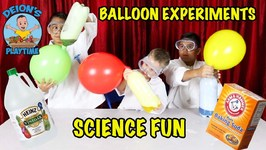 BALLOON EXPERIMENT with VINEGAR and BAKING SODA - DEION'S PLAYTIME