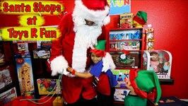 SANTA VISITS DEION AT TOYS ARE FUN!!!!