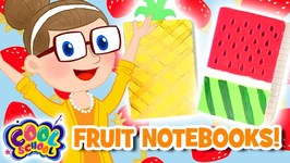 Mini Fruit Notebooks - Summer Crafts with Crafty Carol - Cartoons for Kids - Crafts for Kids