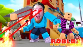 I HAVE MY OWN SUPERPOWER !!! Superhero Battle Sharky Gaming - Roblox
