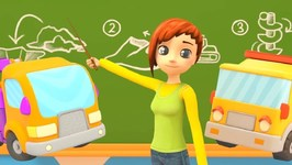 Car School- A Truck with a Crane Manipulator - Learn Cars for Kids and Vehicle Names and Sounds