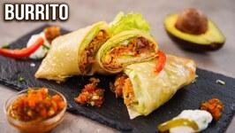 Burrito Recipe/ How to Make Burrito at Home/ Mexican Burrito Wrap/ Easy Veg Wrap Recipes/ Ruchi