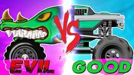 Monster Truck - Good Vs Evil - Street Vehicles For Children