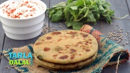 Spicy Chawli Leaves And Spinach Stuffed Parathas