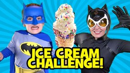 Batman Vs Catwoman Ice Cream Challenge With Superheroes In Real Life