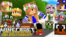 AM I LITTLE KELLY OR LITTLE CARLY?? LITTLE CLUB LUCKY BLOCK MADNESS!! - Little Donny Minecraft!!