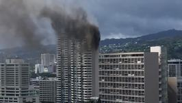 Dark Smoke Billows From Deadly High-Rise Fire in Hawaii