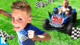 Strength Challenge Kids Run The American Ninja Warrior Obby 2 In Real Life Kidcity