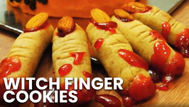 Witch Finger Cookies Recipe - Atta Cookies - Eggless Baking Without Oven - HalloweenRecipes