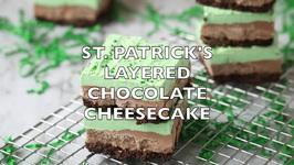 St. Patrick's Layered Chocolate Cheesecake Bars