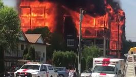 Six-Story Condo Burns in Kelowna, No Injuries Reported