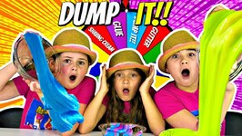 DUMP IT Slime Challenge!! Kids Play Mystery Dump It SLIME Challenge Game!