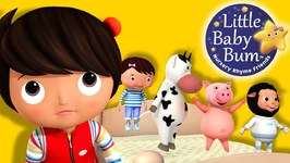 Five Little Baby Bum Friends Jumping On The Bed - Nursery Rhymes