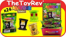 Full Case 24 Series 1 Abatons Animals Blind Bags Gold Glitter Unboxing Toy Review
