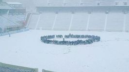 UNC Students Sing School Song in Snow