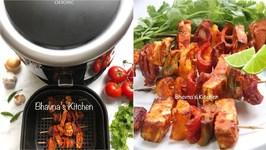 Paneer Tikka Kebab In Omorc Air Fryer