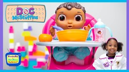 Baby Cece Morning Routine with Kyraboo  Doc Mcstuffins Pretend Play