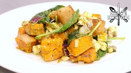 Roasted Pumpkin And Feta Salad / Easy Dinner Recipe
