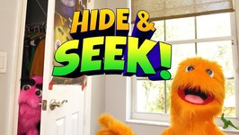 Fuzzy Puppet Plays Hide and Go Seek! Extreme Hide and Seek Challenge