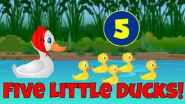 Five Little Ducks - Counting Song for Kids