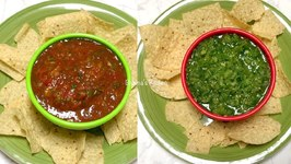 Party Rockers Red And Green Zesty Raw Salsa  / Quick And Easy