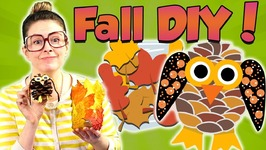 Fun Fall Crafts - DIY Owl Pinecone And Leaf Jar - Arts And Crafts