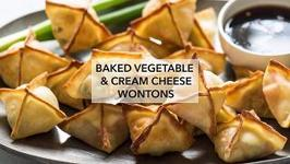 Baked Vegetable & Cream Cheese Wontons
