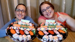 2 Sushi Trays-Gay Family Mukbang- Eating Show