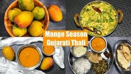 Celebrating Mango Season Aamras Festival Gujarati Thali Vaal ni Dar
