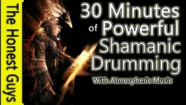 Powerful Shamanic Drumming With Atmospheric Music 31 Mins - With Call-Back