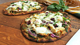 Pizza - Artichoke, Chicken And Pesto Naan Pizza