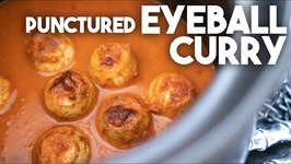 I Made Punctured Eyeball Curry With The Blood Of Humans - Halloween Special - Egg Curry
