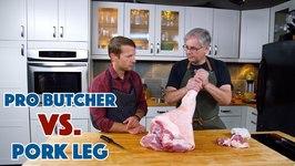 Pro Butcher Preps A Hog Leg For Prosciutto