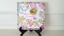 Mother's Day Gift Idea  Mod Podge Ceramic Tile