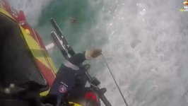 Man Rescued by Helicopter From Dangerous Surf Powered by Cyclone Gita