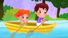 Row Row Row Your Boat - Nursery Rhyme - Cartoon Videos For Children