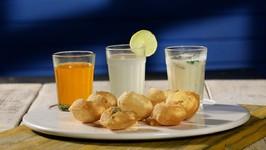 Pani Puri 3 Ways - How To Make Pani Puri At home - Healthy Street Food