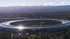 Aerial Footage Captures View of Apple Park in Cupertino, California