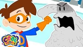 Drew VS The Snowman - A Stupendous Drew Pendous Superhero Story - Cartoons for Kids - Cool School Stories