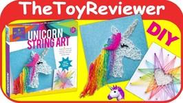 Craft-tastic Unicorn String Art Kit Heart Starburst Craft Girl Unboxing Toy Review