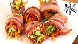 Bacon Wrapped Keto Sushi - Keto And Low Carb Snack