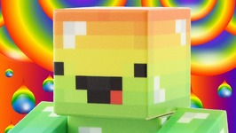 Minecraft Rainbow Guy Mattel Survival Mode Toys - Haunted Adventures And Shield Button Crumble