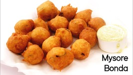 Mysore Bonda - Bajji Preparation In South Indian Style