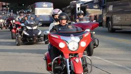 Hundreds of Motorcyclists Ride to Remember September 11 Victims
