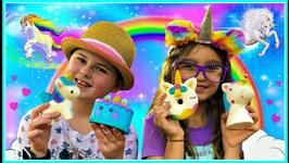 SQUISHY Toys for Kids! Unicorn Squishy Toys, Cake Squishy!