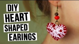 DIY Heart Shaped Earrings