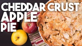 CHEDDAR Crust APPLE PIE -Thanksgiving Savoury And Sweet Dessert